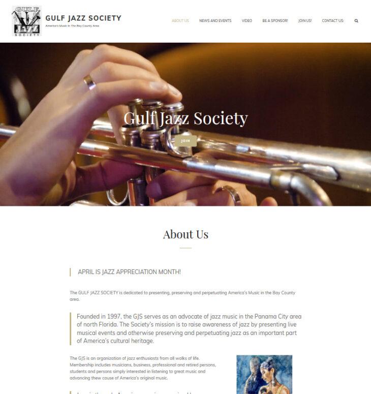 New web site for Gulf Jazz Society