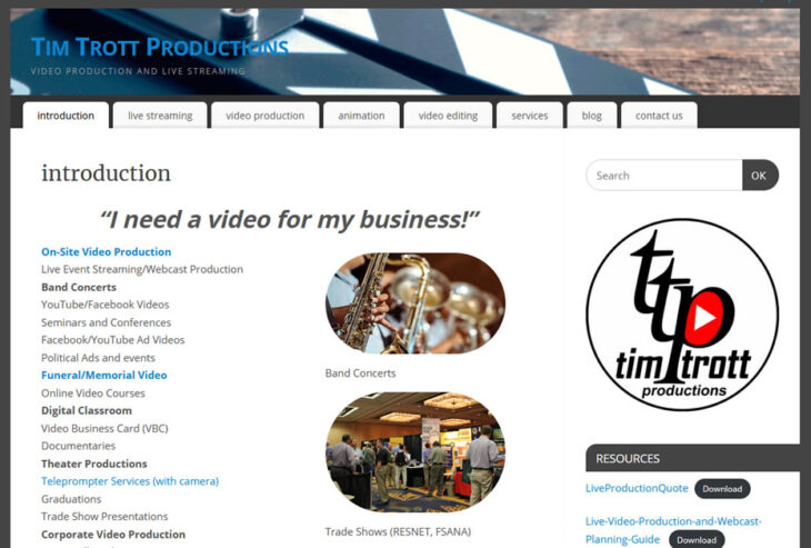 New look for Tim Trott Productions