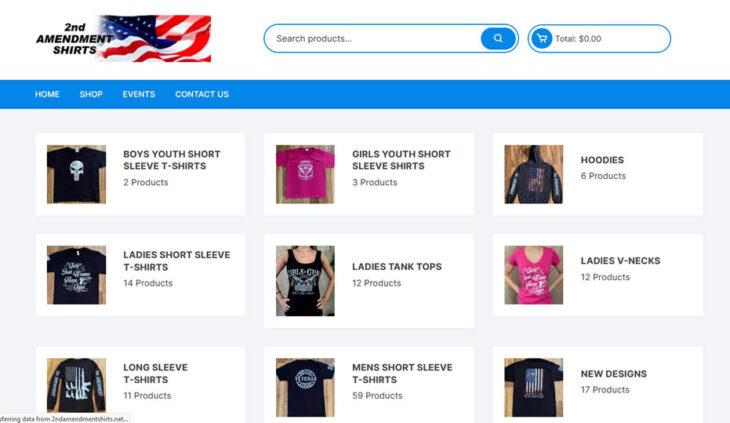 Catalog for 2nd Amendment Shirts